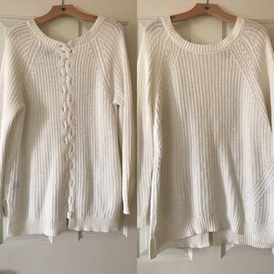 Aerie stitch sweater with braided back